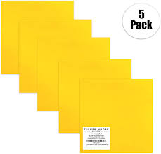Amazon Com Yellow Transparent Vinyl 12 X 12 See Through Vinyl Sheets For Crafts Scrapbooking Stickers Decals Windows Water Bottles Includes 12x12 Opal Vinyl By Turner Moore Edition Clear Yellow 5 Pk Arts Crafts