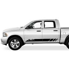 Amazon Com Bubbles Designs 2x Decal Sticker Graphic Side Mountain Stripes Compatible With Dodge Ram 2009 2017 1500 2500 Automotive