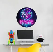 Game Night Wall Decal Joystick Playstation Vinyl Sticker Murals Gamer Room Ps74 Ebay
