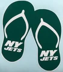 Ny Jets Flip Flops Vinyl Decal Ebay