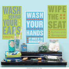 Bathroom Rules Kids Room Wall Decal Set At Retro Planet