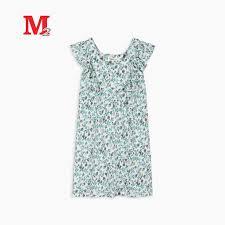 Váy bé gái cổ vuông – Thời trang M2