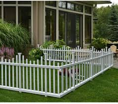 2 5 Ft H X 4 7 Ft W Madison No Dig Garden Fence Panel Garden Fence Panels Backyard Fences Backyard