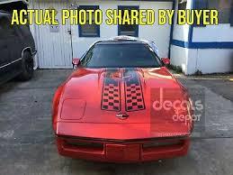 Chevrolet Corvette C4 1984 1996 Sport Front Hood Racing Stripes Pre Cut Decal Car Truck Graphics Decals