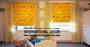 Yellow Roller Blinds And Window Treatments For Kids Room Curtain Designs
