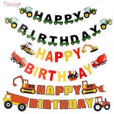 Taoup 1 Unidad De Papel Banderines Para Camiones De Feliz