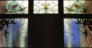 art nouveau stained glass building