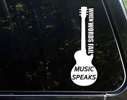 Fender Guitar Music Vinyl Decal Car Decal Sticker Logo Die Cut Bass Pick 4