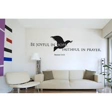 Be Joyful In Hope Faithful In Prayer Romans 12 12 Wall Decal Wall Decal Sticker Mural Vinyl Art Home Decor Christian Quotes And Sayings W5191 White 16n X 5in Walmart Com Walmart Com