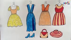 Dạy Bé Tập Vẽ Thời Trang Quần Áo Váy Mũ Giày Dép