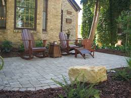 Front Yard Patios Ideas Patio With Pavers Fence Outstanding Small Concrete Home Elements And Style Design Sitting Entrance Stone Entertainment Area Crismatec Com
