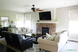 gray washed stone fireplace tutorial