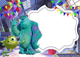 Free Printable Monster Inc Invitation Template Cumpleanos De
