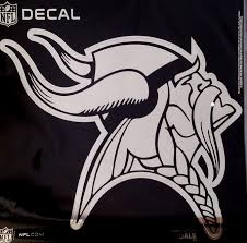 Amazon Com Stockdale Minnesota Vikings Large 12 Silver Metallic Vinyl Auto Decal Nfl Football Sports Outdoors