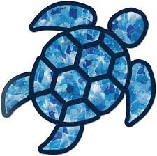 Amazon Com Red Hound Auto Sea Turtle Blue Crystal Sticker Decal Wall Tumbler Cup Window Car Truck Laptop 4 Inches Automotive