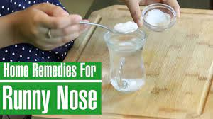 home remes to stop runny nose