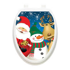 Toilet Tattoos Holiday 3 Christmas Times Toilet Seat Decal Reviews Wayfair