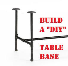 black pipe table legs diy parts kit
