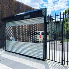 Close Up Inc Roll Up Gate With Side Door Entrance Facebook