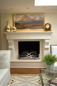 floating fireplace mantel landscape