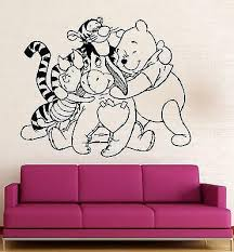 Wall Stickers Vinyl Decal Nursery Winnie The Pooh Cartoon Baby Room Un Wallstickers4you