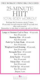 25 minute total body hiit with free