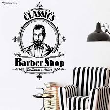 Hair Salon Stylist Barber Tools Classic Barbershop Gentlemen Salon Wall Stickers Art Decal Wallpaper Vinyl Decal Ba09 Vinyl Decal Salon Wall Stickerswall Sticker Aliexpress