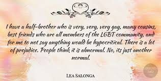 lea salonga i have a half brother who is very very very gay