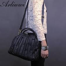 real leather tote handbag
