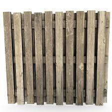 Wood Fence 3d Model 5 Obj Max Fbx Dae Blend 3ds Free3d