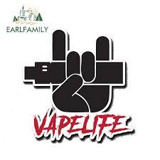 Earlfamily 13cm X 10 6cm Vape Life Sticker Decal Vinyl Coil Ohm Liquid Vapelife Vaper Ecig Mod Tank Pen Waterproof Car Stickers Car Stickers Aliexpress