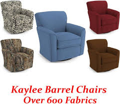 kaylee swivel glider barrel chair