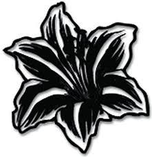 Amazon Com Yws Vinyl Stickers Decals Lily Flower Stickers Laptop Car Truck Window Bumper Home Decor Sma2242 Home Kitchen