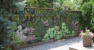 Beautiful Fence Painting Hippy Bohemian Buddhism Art Painting Garden Mural Decorative Garden Fencing Backyard Fences