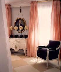 pink curtains home decor
