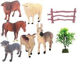 Amazon Com Realyuya 27pcs Farm Animals Toys Figures Playset For Toddlers With 6pcs Different Animals And 20 Pcs Corral Fence Realistic Animals Action Figure Model Educational Learn Cognitive Toys Cake Topper Toys