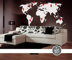Cool Wall Decals Big World Map With Pins By Artollo