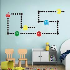Cartoon Pacman Game Wall Sticker Kids Room Nursery Game Xbox Space Invaders Pacman Wall Decal Bedroom Play Room Vinyl Decor Wall Stickers Aliexpress