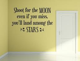 Shoot For The Moon And Stars Vinyl Wall Decal Quote Motivational Dec Inspirational Wall Signs