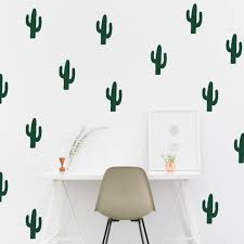 Cactus Wall Decals By Twelve9 Printing