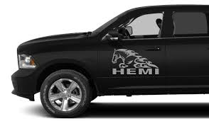 Car Styling For 2x Dodge Hemi Horse In Flame Decal 3 7 V8 Ram 1500 Graphics Vinyl Stickers Car Styling Vinyl Stickersstyling Car Aliexpress