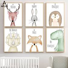 Modern Forest Cute Animal Painting Art Poster Picture Kids Room Home Decor Call Home Garden Vintage Nautical Home Decor Posters Prints