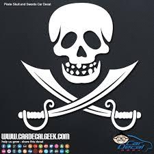 Pirate Skull Swords Car Decal Sticker Window Stickers