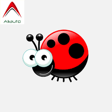 Aliauto Automobile Motorcycle Car Sticker Cartoon Red Star Ladybug Cover Scratches Decal For Laptop Suitcase Vinyl 10cm 8cm Car Stickers Aliexpress