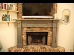 build a mantel over a brick fireplace