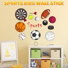 All Sports Wall Decals 28 Boys Wall Stickers Soccer Baseball Football Hockey Football Vinyl Decor Walmart Com Walmart Com