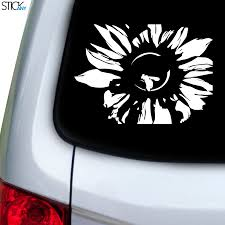 Sunflower Bee Decal For Car Window Stickany