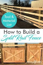 How To Build A Split Rail Fence Acre Life Diy Project Split Rail Fence Rail Fence Fence