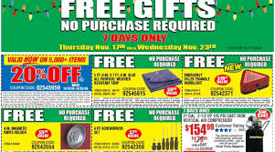 harbor freight tools four free gifts