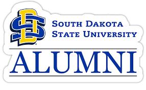 South Dakota State Jackrabbits 4 Inch Laser Cut Alumni Vinyl Decal Sticker Walmart Com Walmart Com